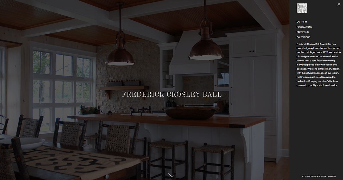 Fred Ball architect site redesign