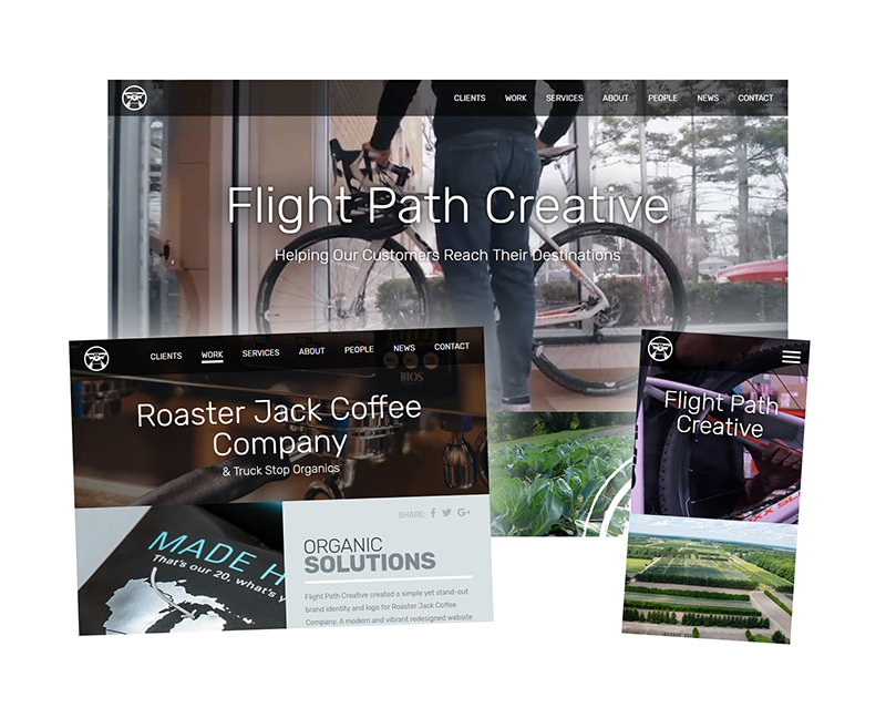 flight path creative new website design