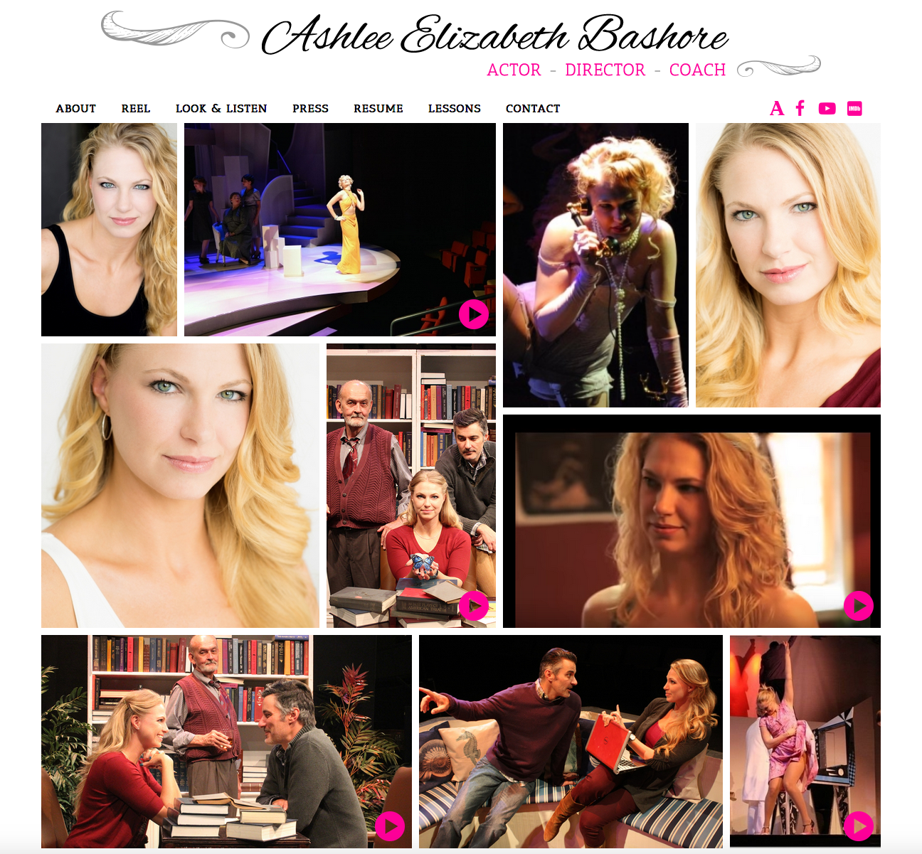 lizz bashore actress website design
