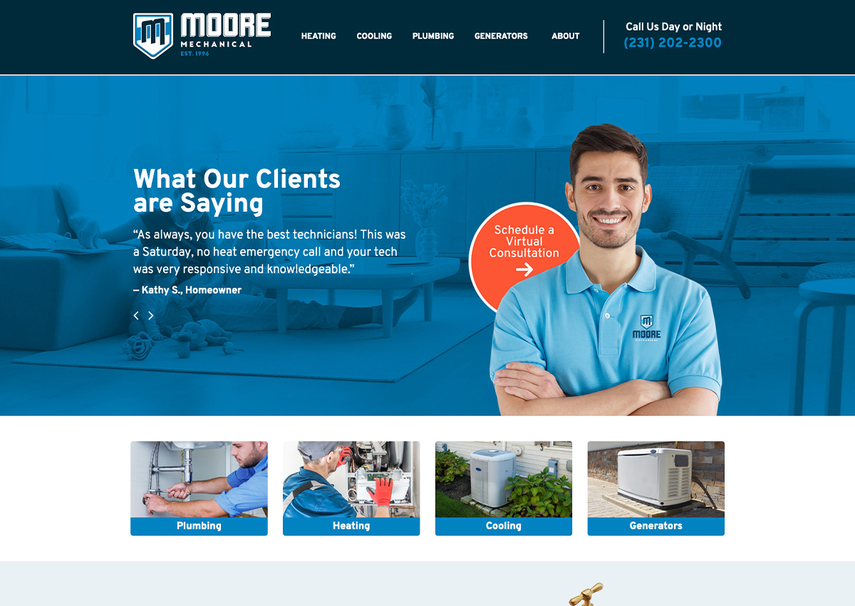 Moore Mechanical site redesign