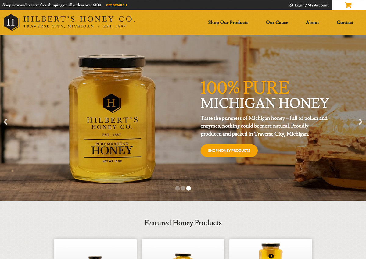 Hilbert's Honey Co. E-Commerce Website Launch