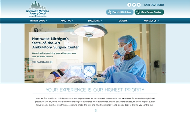 responsive website surgery center