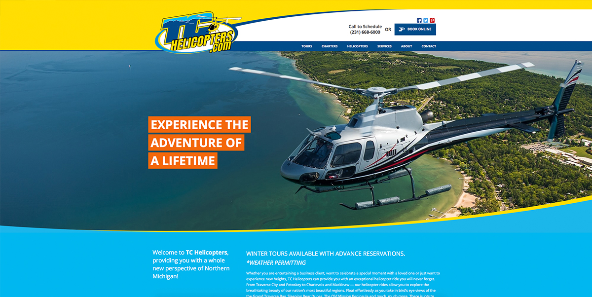 TC Helicopters Website