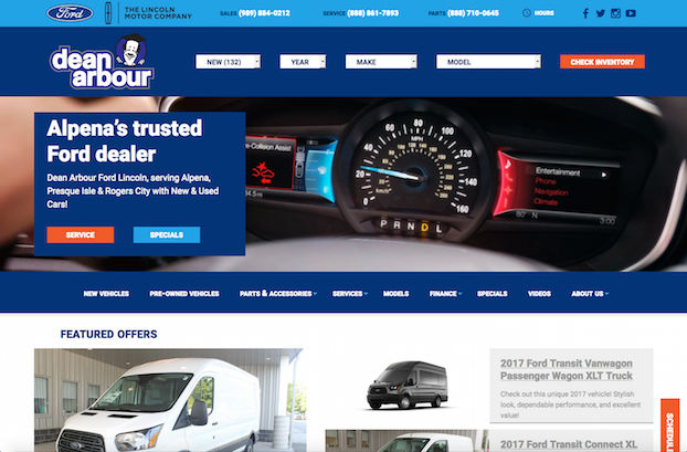 dean arbour ford responsive website