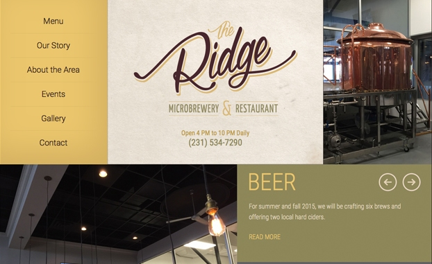the ridge responsive website restaurant
