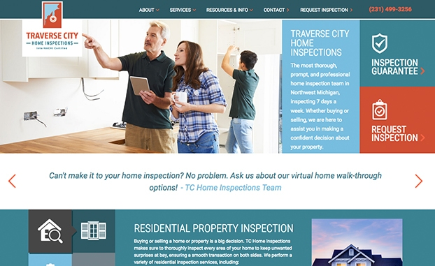 responsive website home inspections